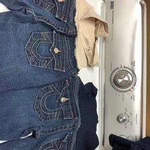 True Religion size 28 & 29 maternity jeans
